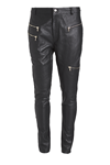 NÖR DENMARK LEATHER PANTS 83.601, BLACK