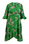 Charlotte Sparre Frill Wrap dress 2352, Iben Green
