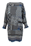 Charlotte Sparre  2608 Fold Sleeve Dress Madison Placement, Blue
