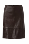 Depeche Leather Skirt 12228, Brown