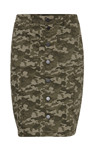 Fransa FRIVCAMO 2 Skirt, Dark Hedge mix