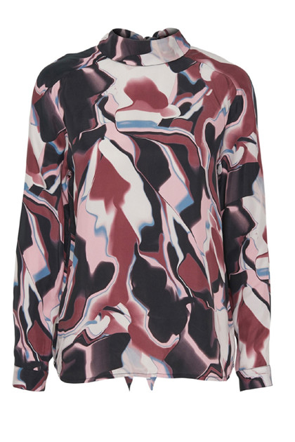 KAREN BY SIMONSEN OBSESSED BLUSE, ALL OVER PRINTED
