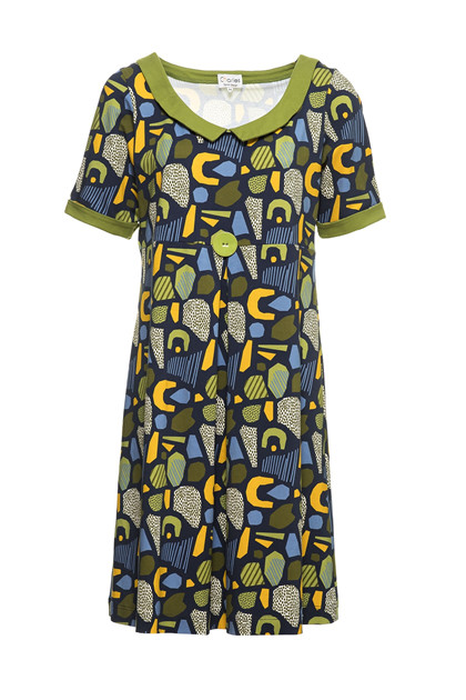 Charles Design Dress Mette, Green Marine