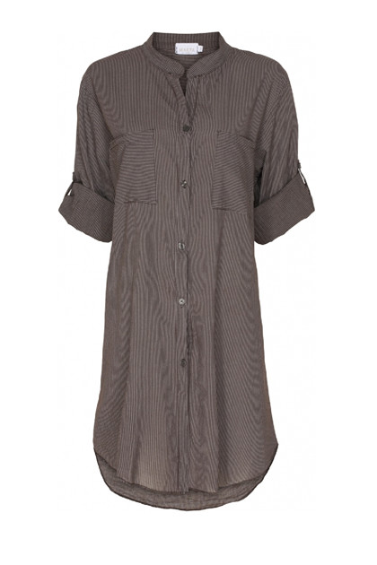 Skjortekjole 1665, Stripe Brown
