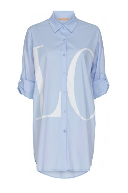 Martha du Chateau 91497 Love shirt, Blue