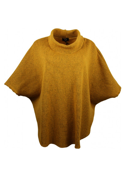 My Soul KNIT poncho 1653, Yellow