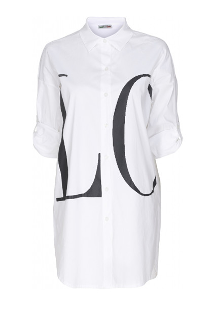 Martha du Chateau 91497 Love shirt, White