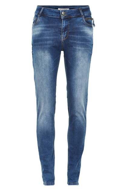 Denim Hunter CASIMA CURVED jeans, Medium Wash