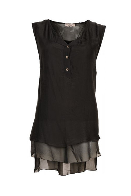 Margit Brandt ROSAMUNDA top MB4052, Black