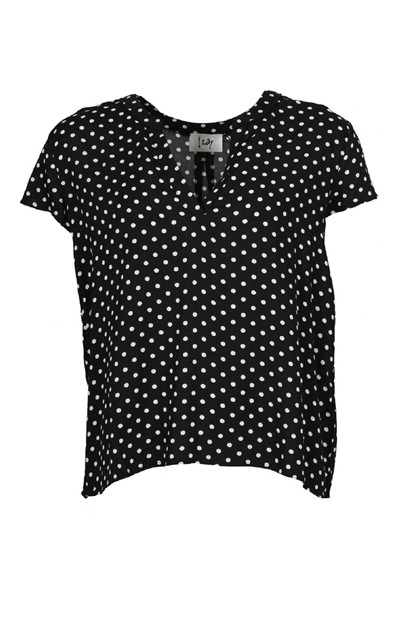 ISAY ANNICA V-NECK BLOUSE, POLKA DOTS