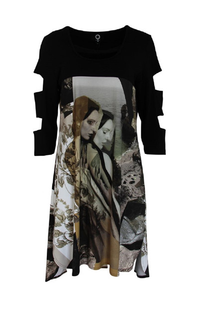My Soul Dress Lady 5504, Army/Print