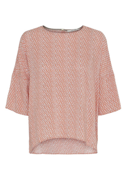 Costamani C Beauty bluse, Coral small flower