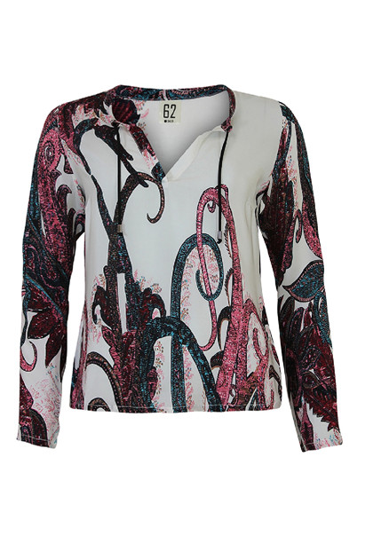 One Of PAISLEY bluse, Off white
