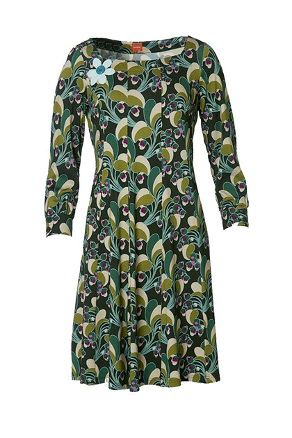 Du Milde Dress Flower Power Green Ninna