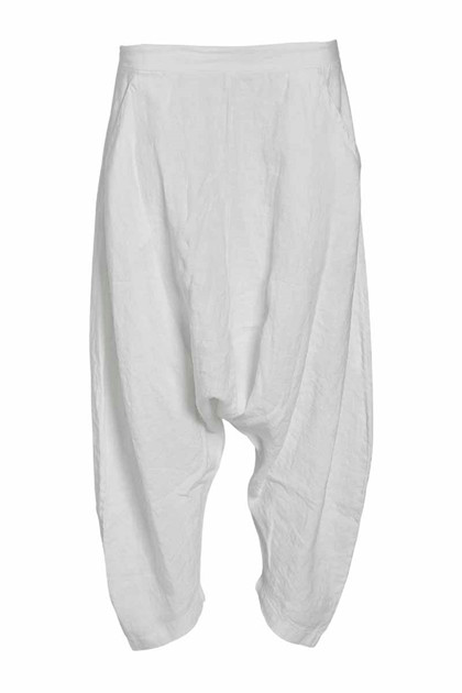 NÖR DENMARK ELEVATED BAGGY PANTS 20.200, WHITE