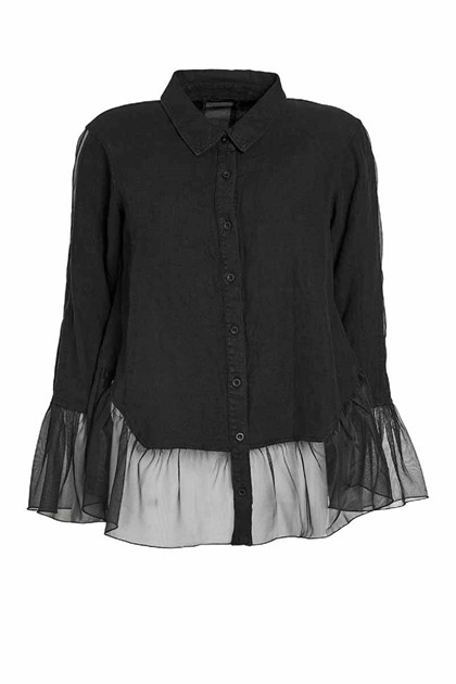 NÖR DENMARK ELEVATED BLOUSE 20.204, BLACK