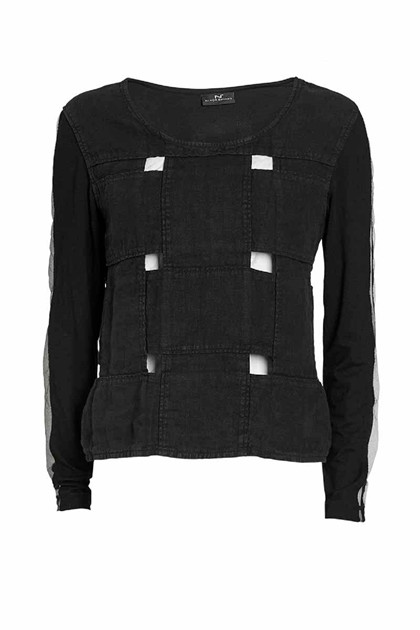 NÖR DENMARK ELEVATED BLOUSE 20.205, BLACK