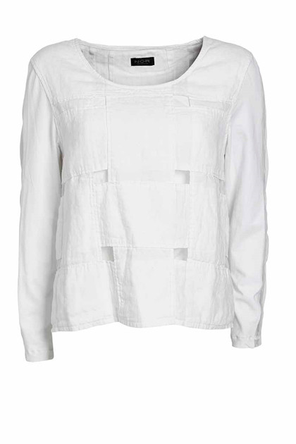 NÖR DENMARK ELEVATED BLOUSE 20.205, WHITE