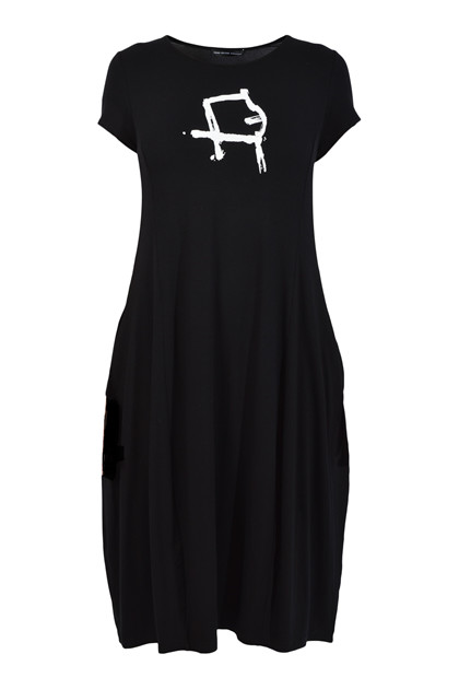 Trine Kryger Simonsen DRESS VENTUS P. INU 180695 , Black/White