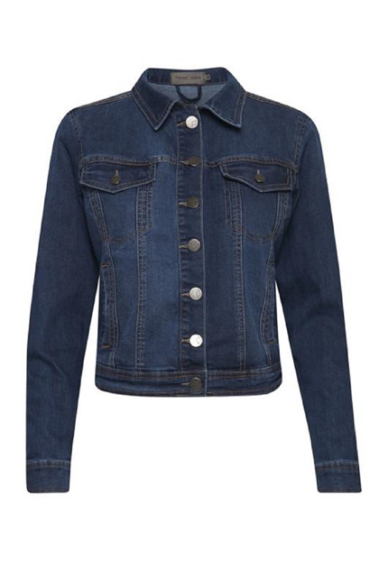 Fransa NOSTITCH 1 Jacket, Simple blue denim