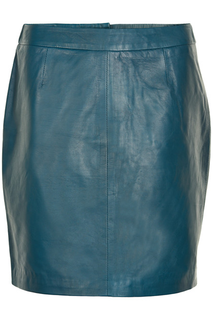 Fransa Raleather 1 Skirt Lamb leather, Reflecting Pond