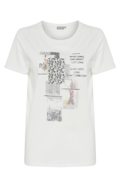 Fransa Rephoto 1 T-shirt Organic, Antique