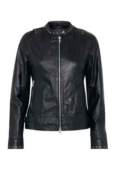 Fransa Raskind 1 Jacket Leather LUXE, Black