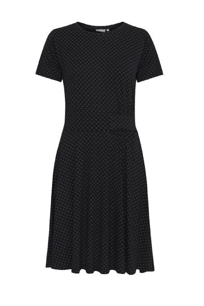 Fransa Fremdotton 2 dress, Graphic - Black mix