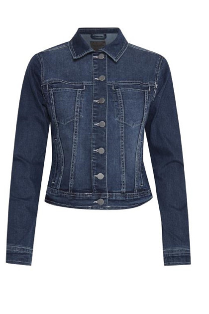 Fransa FRIVSTITCH 1 Jacket, Simple blue denim