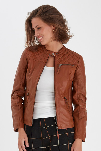 Fransa FRMALEATHER 1 Jacket, Ginger Bread