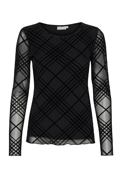 Fransa FRNEMESH 1 top, Black
