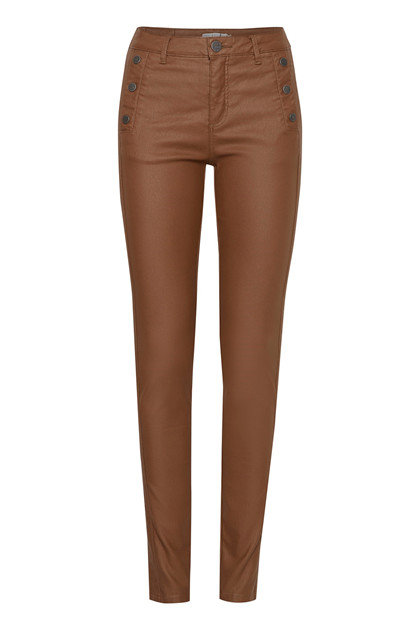 Fransa FRNOTALIN 3 Pants, Dark camel