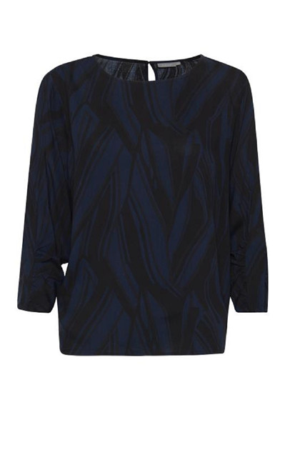 Fransa FRNAPRIK 1 blouse, Blue Graphic mix