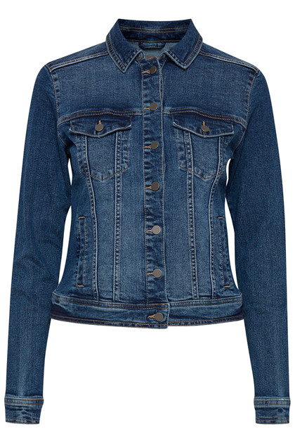 Fransa FRVOCUT 1 Jacket, Glossy Blue Denim