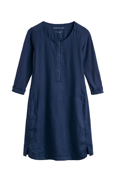 Sandwich Dress Woven Medium SW1310, Navy