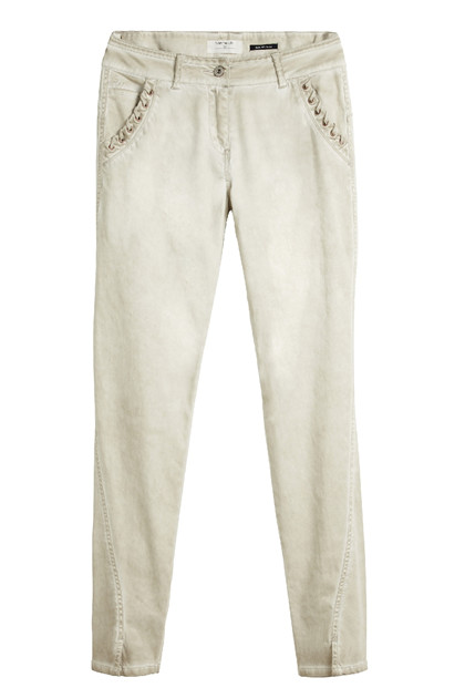 Sandwich Trousers Casual Long SW1402, Silver Lining