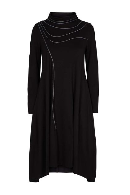 Trine Kryger Simonsen DRESS LEONORE, black/silver