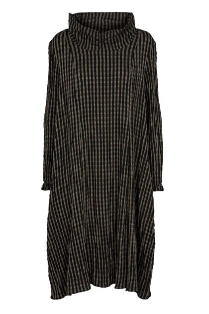 Trine Kryger Simonsen DRESS MICHELLE, Black/beige