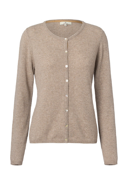 Charlotte Sparre CARDIGAN BUTTON 2593, Solid Nougat