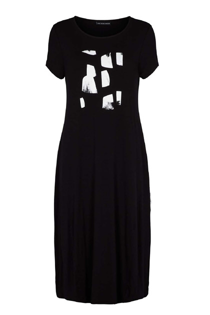 Trine Kryger Simonsen DRESS MARISOLE P.SAGI, Black/white