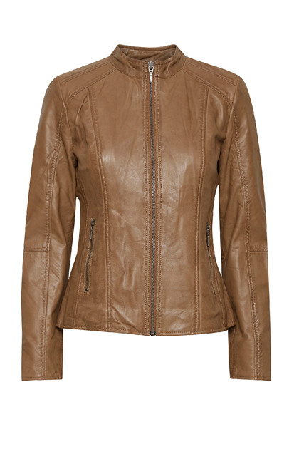Fransa FRBALEATHER 1 Jacket LUXE, Tobacco Brown