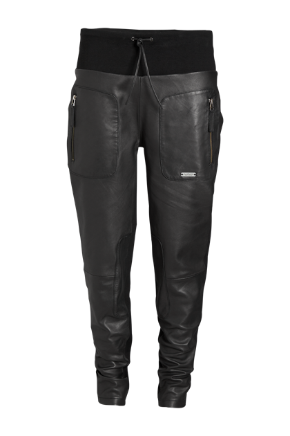 NÖR DENMARK LEATHER PANTS 73.609, BLACK