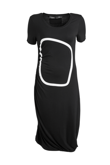 NÖR DENMARK JERSEY DRESS w. PRINT  81.102, BLACK