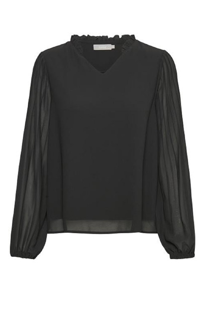 Fransa FRFAPLEAT 1 Blouse, Black