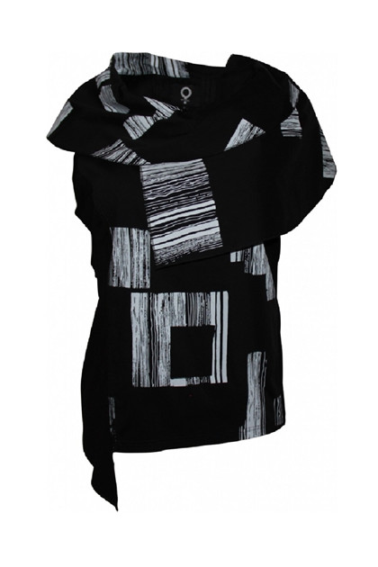My Soul top BARCODE 1601, Black/print