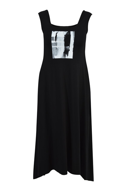 Trine Kryger Simonsen DRESS MADELEINE P.KIBO, Black/multi-grey