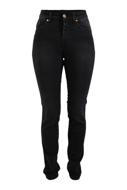 Jonny Q jeans P682H Catherine X-fit stretch black, Lav dark destroved