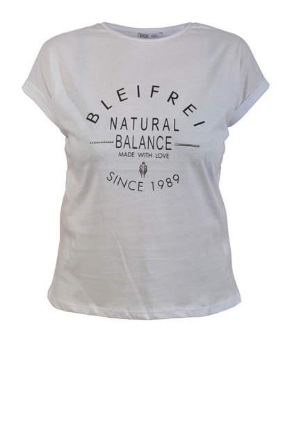 Bleifrei T-shirt NATURAL BALANCE, White