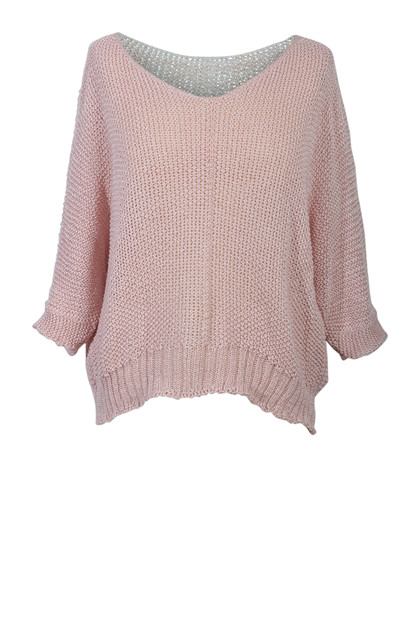 Strik trøje  7010, Dusty Pink