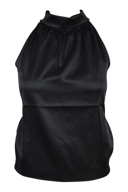Charlotte Sparre Pussybow top, Black